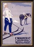 C. Wagner Sportartikel Framed Giclee Print by Carl Moos