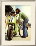 Kawasaki in the Pit, Grand Prix Framed Giclee Print