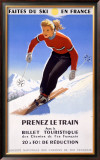 Downhill Snow Ski France Framed Giclee Print