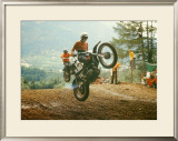 Bulltaco Motorcycle MX Framed Giclee Print by Giovanni Perrone