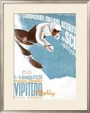 Campionati Italiani Assoluti di Sci Framed Giclee Print