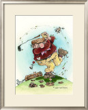 Full Swing- The Golfer Framed Giclee Print by Gary Patterson