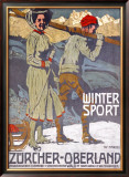 Winter Sport, Zurcher, Oberland Framed Giclee Print by  Marxer