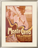 Monte Carlo, Tir aux Pigeons Framed Giclee Print by Adolfo Hohenstein
