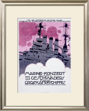 WWI, German Kriegsmarine Destroyer Framed Giclee Print