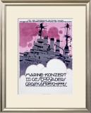 WWI, German Kriegsmarine Destroyer Framed Giclee Print