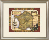 Wine Map of France Framed Giclee Print