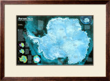 Antarctica Satellite Map Prints