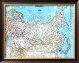 Map of Russia Prints