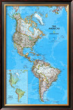 The Americas Political Map Art