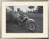 Ride It Lika a 125 Framed Giclee Print by Charlie Morey
