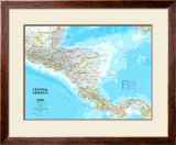 Map of Central America Art