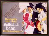 Rollschuh Bahn Framed Giclee Print by Fritz Rumpf