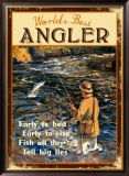 World's Best Angler Framed Giclee Print