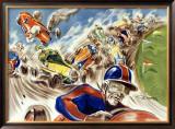 Midget Racing Framed Giclee Print by Geo Ham
