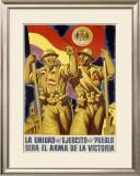 La Unidad del Ejercito del Pueblo Framed Giclee Print