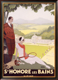 St. Honore les Bains Framed Giclee Print by Roger Broders