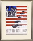 WWII, Keep 'Em Rolling PT Boat Framed Giclee Print