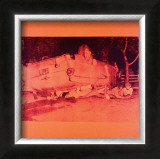 Five Deaths on Orange (Orange Disaster), c.1963 (orange car) Print by Andy Warhol