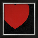 Heart, c.1979 (Red on Black) Poster by Andy Warhol