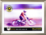 Bultaco Pursang Framed Giclee Print