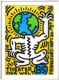 Theater Der Welt - Haring Vert Posters by Keith Haring