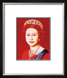 Reigning Queens: Queen Elizabeth II of the United Kingdom, c.1985 (Light Outline) Prints by Andy Warhol