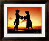 Sunset Lovers Framed Giclee Print by Randy Jay Braun
