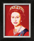 Reigning Queens: Queen Elizabeth II of the United Kingdom, c.1985 (Light Outline) Print by Andy Warhol