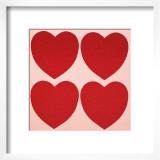 Hearts, c.1979-84 Posters by Andy Warhol