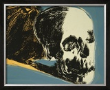 Skull, c.1976 (yellow on teal) Art by Andy Warhol