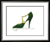 Shoe, c.1955 (Green and Yellow) Print by Andy Warhol