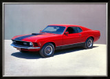 1970 Ford Mustang Mach 1 Framed Giclee Print