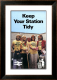 Keep Your Station Tidy, BR, 1979 Framed Giclee Print