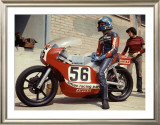 Italian GP Motorcycle Pit Stop Framed Giclee Print