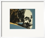 Skull, c.1976 (yellow on teal) Poster by Andy Warhol