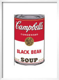 Campbell's Soup I: Black Bean, c.1968 Print by Andy Warhol