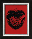 Heart, c.1984 (I Love You) Prints by Andy Warhol