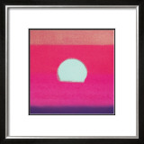 Sunset, c.1972 (hot pink, purple, red, blue) Art by Andy Warhol