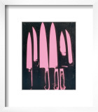 Knives, c. 1981-82 (pink and black) Prints by Andy Warhol