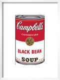 Campbell's Soup I: Black Bean, c.1968 Poster by Andy Warhol