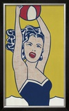 Girl with Ball Posters by Roy Lichtenstein
