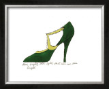 Shoe, c.1955 (Green and Yellow) Art by Andy Warhol