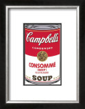 Campbell's Soup I: Consomme, c.1968 Art by Andy Warhol