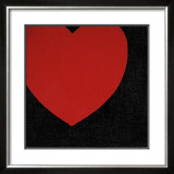 Heart, c.1979 (Red on Black) Art by Andy Warhol