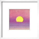Sunset, c.1972 (pink, purple, yellow) Poster by Andy Warhol