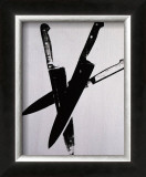 Knives, c.1981-82 (Three Black on Cream) Print by Andy Warhol
