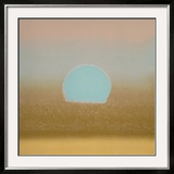 Sunset, c.1972 (gold, blue) Art by Andy Warhol