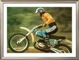 Bultaco Pursang Motorcycle MX Framed Giclee Print