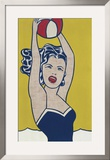Girl with Ball Print by Roy Lichtenstein